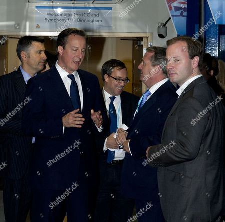 Conservative Party Autumn Conference at the Icc Birmingham David Cameron Ed Llewellyn Liam Fox and Craig Oliver