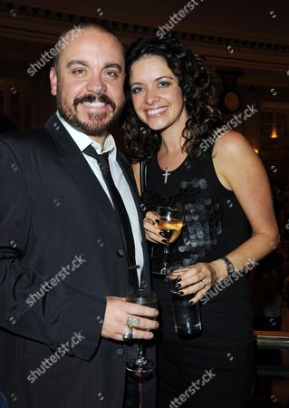 Stock Picture of Cool Hand Luke First Night Curtain Call at the Aldwych Theatre and Afterparty at the Waldorf Hotel Lee Boardman with His Wife Jennifer James
