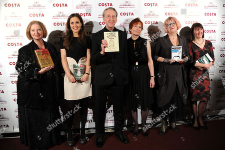 Costa Book Awards at Quaglino's Mayfair Hilary Mantel Francesca Segal Mary and Bryan Talbot Sally Gardner and Kathleen Jamie