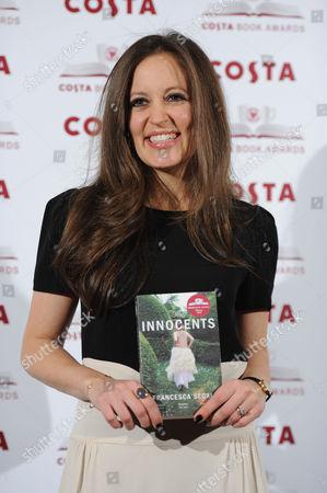 Costa Book Awards at Quaglino's Mayfair Francesca Segal (winner of First Novel Award)