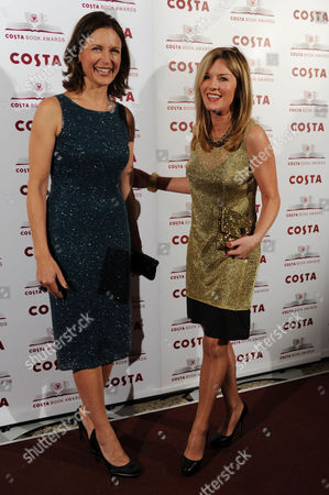 Costa Book Awards at Quaglino's Mayfair Katie Derham and Andrea Catherwood