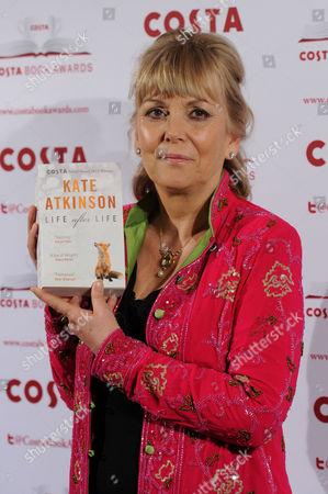 Stock Image of Costa Book Awards 2013 at Quaglinos Mayfair Kate Atkinson - Costa Novel Award Winner