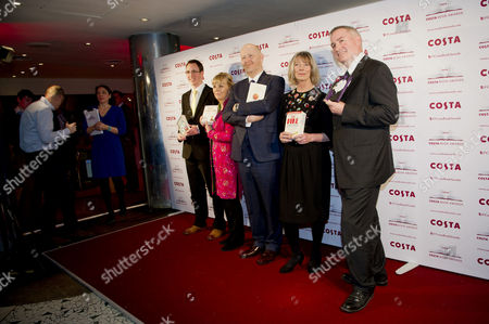 Costa Book Awards 2013 at Quaglinos Mayfair Winners - Nathan Filer (first Novel) Kate Atkinson (novel) Michael Symmons Roberts (poetry) Lucy Hughes-hallett (biography) and Chris Riddell (children's)
