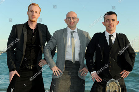 Cast of 'The Angel's Share Photographed at the Creative Scotland Reception at Long Beach During the 65th Cannes Film Festival William Ruane Gary Maitland and Paul Brannigan
