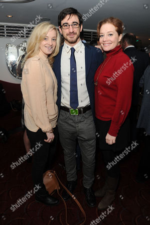 Critics Circle Theatre Awards at the Prince of Wales Theatre Leicester Square Rachel Finnegan Ferdinand Kingsley and Charlotte Lucas