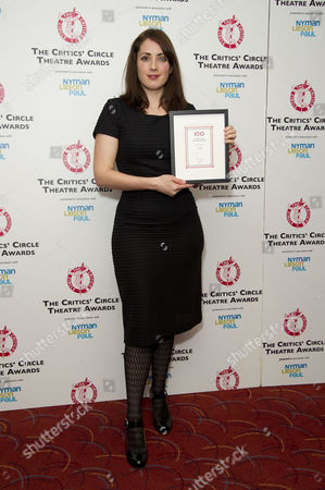 Critics Circle Theatre Awards at the Prince of Wales Theatre Leicester Square Lucy Prebble - Winner of Best New Play 'The Effect'