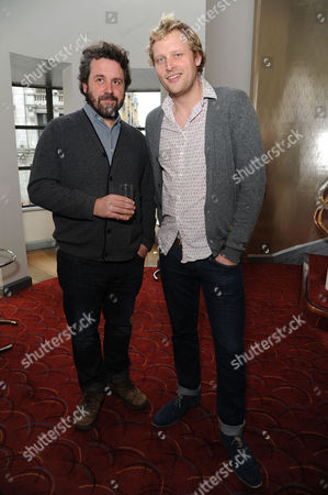 Critics Circle Theatre Awards at the Prince of Wales Theatre Leicester Square Dominic Dromgoole (artistic Director Globe) and Tom Bird (festival Producer Globe to Globe)