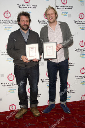Critics Circle Theatre Awards at the Prince of Wales Theatre Leicester Square Dominic Dromgoole (artistic Director Globe) and Tom Bird (festival Producer Globe to Globe) Winners of the Special Award