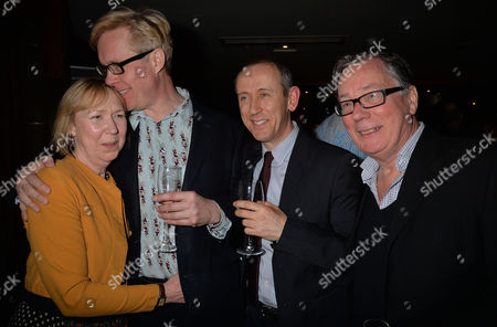 After Party For Untold Stories at the Radisson Blu Hotel Leicester Square Westminster London Gabrielle Lloyd Alex Jennings and Jeff Rawle with Their Director Nicholas Hytner ( 2 R )