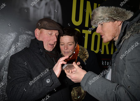 After Party For Untold Stories at the Radisson Blu Hotel Leicester Square Westminster London Adrian Scarborough with Julian Rhind-tutt