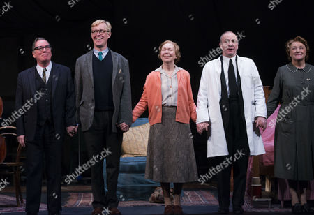Curtain Call For Untold Stories at the Duchess Theatre Catherine Street Westminster London Jeff Rawie Alex Jennings Gabrielle Lloyd Derek Hutchinson & Sue Wallace