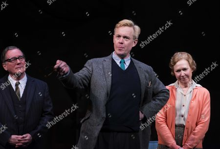 Curtain Call For Untold Stories at the Duchess Theatre Catherine Street Westminster London Jeff Rawie Alex Jennings & Gabrielle Lloyd