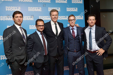 Daddy's Home - Uk Film Premiere at Vue Leicester Square David Koplan Riza Aziz Mark Wahlberg Will Ferrell Joey Mcfarland and Will Ferrell