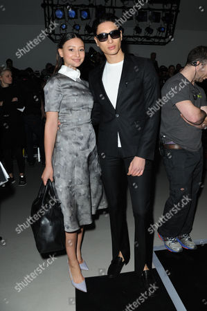 Daks Aw15 During London Fashion Week Front Row - Leah Weller with Her Brother Nat