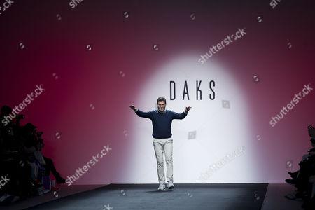 Daks Aw15 During London Fashion Week Daks Creative Director - Filippo Scuffi
