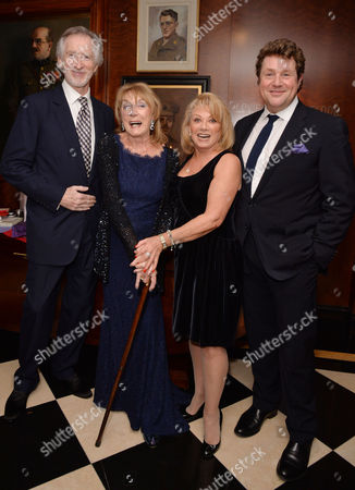 Dame Gillian Lynne's 90th Birthday at the Beaumont Hotel Gillian Lynne with Her Husband Peter Land Elaine Paige and Michael Ball