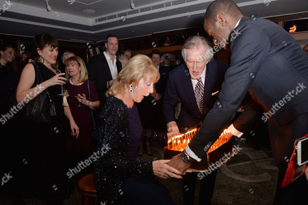 Dame Gillian Lynne's 90th Birthday at the Beaumont Hotel Dame Gillian Lynne with Her Husband Peter Land