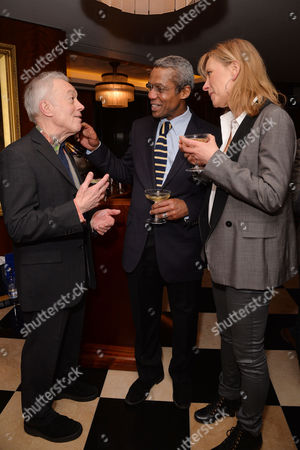 Dame Gillian Lynne's 90th Birthday at the Beaumont Hotel Nickolas Grace Hugh Quarshie with His Wife Annika Sundstrom