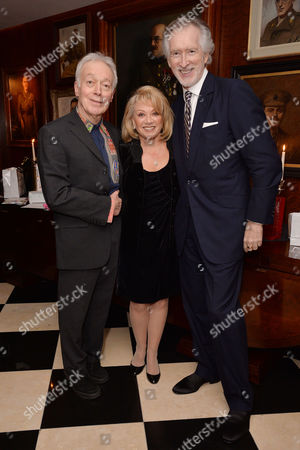 Dame Gillian Lynne's 90th Birthday at the Beaumont Hotel Nickolas Grace and Elaine Paige with Peter Land