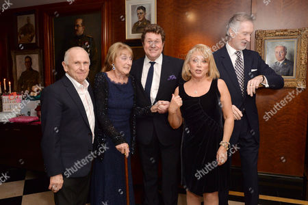 Dame Gillian Lynne's 90th Birthday at the Beaumont Hotel Gillian Lynne with Her Husband Peter Land Elaine Paige and Michael Ball with Wayne Sleep