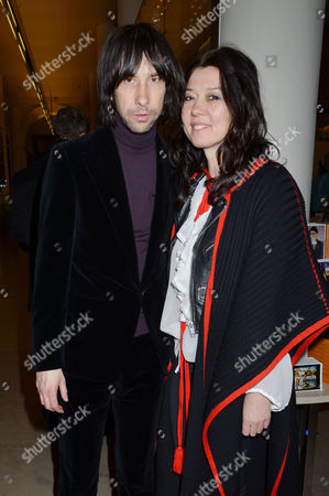 Private View at the V&a Bobby Gillespie and His Wife Katy England