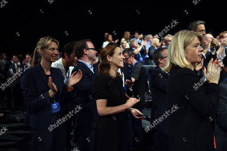 David Cameron Makes His Keynote Speech to the Conservative Party Conference in Manchester Members of David Cameron's Back Room Team Listen to His Speech Camilla Cavendish Oliver Lloyd Ed Llewellyn Kate Fall Caroline Preston