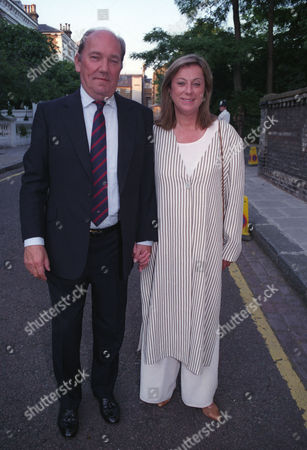 Garden Party in Carlyle Square Chelsea Ian Wooldridge with His Wife Sarah
