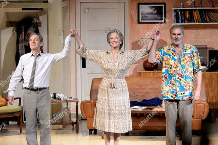 Daytona First Night at the Theatre Royal Haymarket Curtain Call - Harry Shearer Maureen Lipman and Oliver Cotton