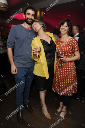Stock Image of Daytona First Night at the Theatre Royal Haymarket and Afterparty at the Haymarket Hotel Maureen Lipman with Her Son Adam and Daughter Amy Rosenthal