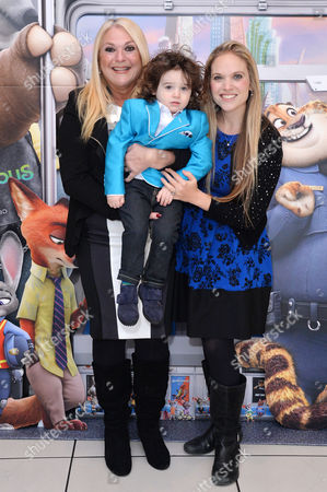 Disney's Family Screening of Zootropolis at the Odeon Leicester Square Vanessa Feltz with Her Daughter Allegra Kurer and Grandson