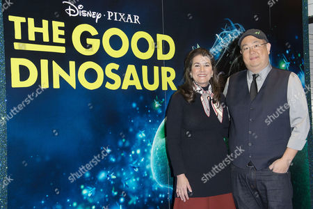 Stock Photo of Disney Pixar 'The Good Dinosaur' Uk Gala Screening at the Picturehouse Central Producer Denise Ream and Director Peter Sohn
