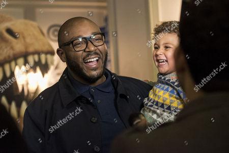 Disney Pixar 'The Good Dinosaur' Uk Gala Screening at the Picturehouse Central Mistajam with His Son Benjamin