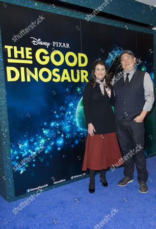Stock Picture of Disney Pixar 'The Good Dinosaur' Uk Gala Screening at the Picturehouse Central Producer Denise Ream and Director Peter Sohn