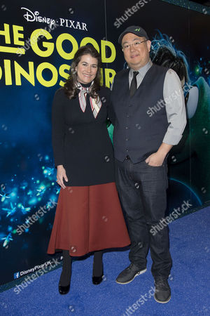 Stock Image of Disney Pixar 'The Good Dinosaur' Uk Gala Screening at the Picturehouse Central Producer Denise Ream and Director Peter Sohn