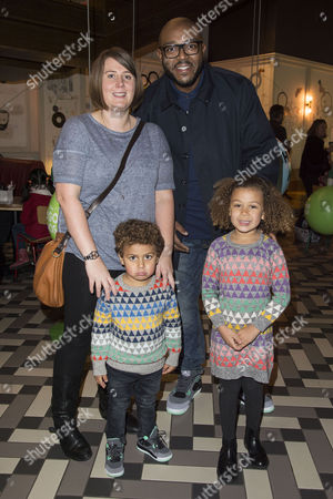 Disney Pixar 'The Good Dinosaur' Uk Gala Screening at the Picturehouse Central Mistajam with His Partner and Children Olivia and Benjamin