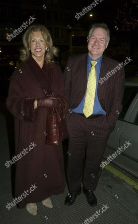 Exclusive Dominic Lawson's 50th Birthday Party at the Chelsea Brasserie Sloane Square London Noreen Taylor & Her Husband Roy Greenslade