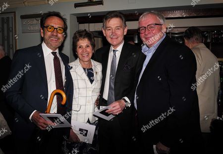 19 05 2015 A Celebration of the Life of Sir Donald Sinden at Wyndham's Theatre Charing Cross Road London Robert Lindsay Georgina & Anthony Andrews and Christopher Biggens