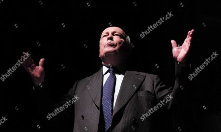 19 05 2015 A Celebration of the Life of Sir Donald Sinden at Wyndham's Theatre Charing Cross Road London Lord Julian Fellowes