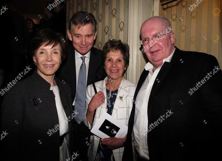 19 05 2015 A Celebration of the Life of Sir Donald Sinden at Wyndham's Theatre Charing Cross Road London Lady Mary Archer Georgina & Anthony Andrews and Marc Sinden