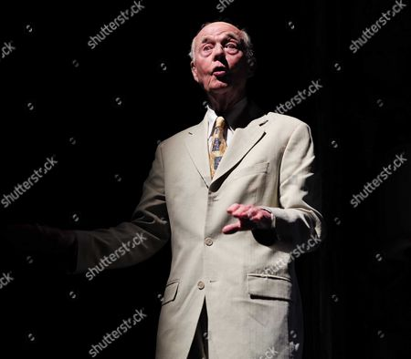 19 05 2015 A Celebration of the Life of Sir Donald Sinden at Wyndham's Theatre Charing Cross Road London Then Tea and Sandwiches with Champagne at the Garrick Club Ray Cooney