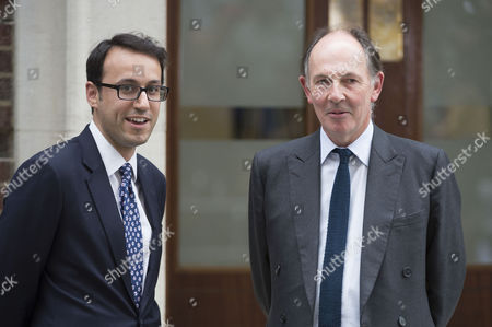 Scenes Outside the Lindo Wing of St Mary's Hospital Paddington On the Birth of the Prince of Cambridge Miguel Head Private Secretary to the Duke of Cambridge with Lead Clinician Jonathan Ramsey