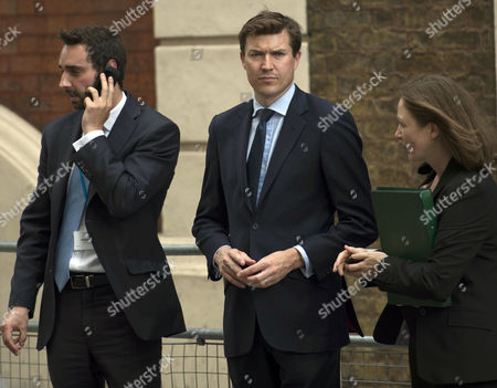 Scenes Outside the Lindo Wing of St Mary's Hospital Paddington On the Birth of the Prince of Cambridge Nick Loughran St James's Palace Press Officer and James Roscoe the Queen's New Deputy Press Secretary and Head of News
