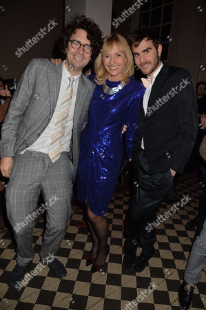 Barry Humphries Farewell Tour 'Eat Pray Laugh!' at the London Palladium and After Party at 1 Mayfair Lizzie Spender with Her Step-sons Rupert & Oscar Humphries