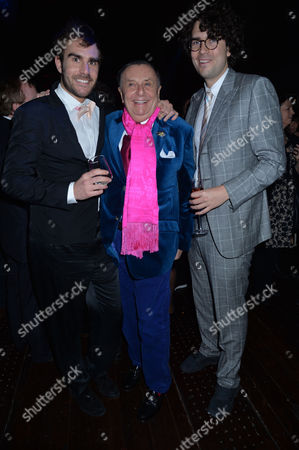 Olivia Scott-webb 15/11/2013 Barry Humphries Farewell Tour 'Eat Pray Laugh!' at the London Palladium and After Party at 1 Mayfair Barry with His Sons Oscar Humphries & Rupert Humphries