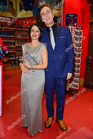 Elf the Musical Press Night Afterparty at Hamleys Toy Store Jessica Martin and Joe Mcgann