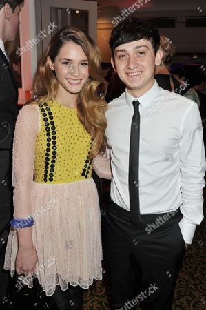 Jameson Empire Awards 2012 Reception at the Grosvenor House Hotel Craig Roberts with His Girlfriend Lucinda Dryzek