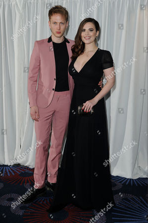 Jameson Empire Film Awards 2015 Vip Reception at the Grosvenor House Hotel Hayley Atwell with Her Boyfriend Evan Jones