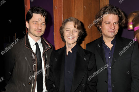 Evening Standard Film Awards at County Hall Barnaby Southcombe (l) with His Mother Charlotte Rampling and Felix Vossen