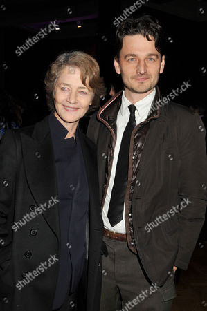 Evening Standard Film Awards at County Hall Charlotte Rampling with Her Son Barnaby Southcombe