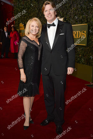 Stock Photo of the Evening Standard Theatre Awards at Old Vic Elaine Paige with Her Partner Justin Mallinson